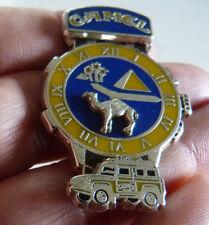 RARE PIN'S 4 X 4 CAMEL TROPHY MONTRE FOND ARGENT ZAMAC 2D