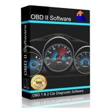 OBD1 & OBD2 CAR DIAGNOSTIC SOFTWARE SCANNER TOOL + ECU BHP TUNING OBDII ELM327.