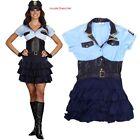 Adult Women Police Cop Uniform Costume Sexy High Waist Halloween Fancy Dress