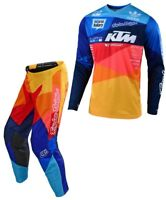 TUTA MAGLIA PANTALONI CROSS ENDURO TLD TROY LEE AIR JET KTM ORANGE BLU 30(46) S