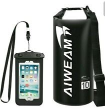 AIWEAM Waterproof Dry Bag 10l - Small Dry Bags for Kayaking - Camping Gear