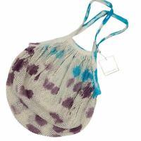Shiraleah Womens Tote Bag Multicolor Tie Dye Lightweight Net Dual Handle L New