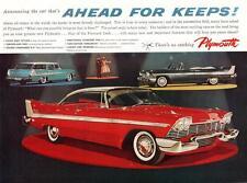 Print.  1958 Plymouth Hardtop, Wagon & Convertible Auto Ad