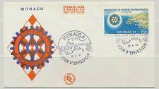 Monaco Sc. 666 Rotary International Convention on 1967 FDC