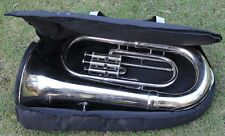"Euphonium Nickel Bb FLAT 3 Valve ""CHOPRA MUSICALS ""M/ PIECE & Bag 130116"