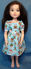 "Christmas Puppy dress for 18"" Best Friends Club BFC Disney Princess & Me dolls"
