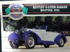 Bentley 8-litre Barker Boattail 1931 trading card