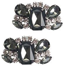 2 rebanadas señora pedrería cristal zapato clips zapato joyas novia zapato decorativas