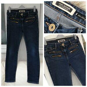 Womens River Island Jeans  UK14, Blue distressed denim, Straight leg, Zip detail