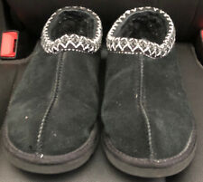 UGG AUSTRALIA TASMAN BLACK BRAID SLIP ON CLOG SLIPPER SHOES 8 EU 37 S/N 5955