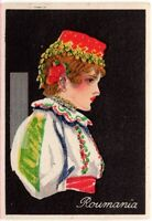 Romania Rounamia Young Woman Traditional Dress Clothing  1920s Trade Ad Card