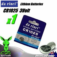 1 x CR1025 Lithium 3 volt Coin Battery Local Australian Stock 3v 30mAh quality