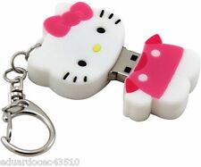 Hello Kitty USB Flash Drive 8GB Key Chain Portable Thumb Flash Jump Drive New