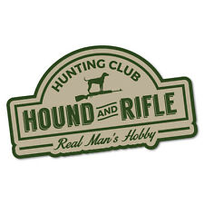 Hunting Club Hound And Rifle Sticker Decal Hunting Car 4x4 Vinyl Wild #6354EN