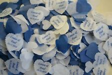 20 BOXES of biodegradable CONFETTI personalised names & 2020 date SPECIAL OFFER