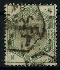 GB QV 1883-84 1s Dull Green Used SG 196 Cat £325