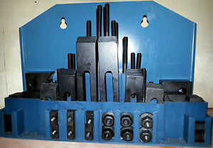 58pc. Clamping Kit for MIlling / Drilling  - 16mm T-Slots - 14mm Studs