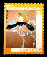 SELLOS FRANCIA 2001 3421 ARTE PINTURA TOULOUSE LOUTREC 1v.