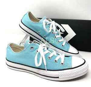 Converse Ctas Canvas Low Top Bleached Aqua Women's All Sizes Sneakers 165496F
