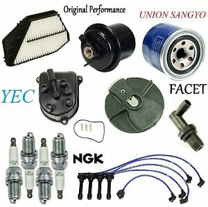 Tune Up Kit Filters Pcv Cap Rotors Wires Plugs FIT Honda Accord 2.2L 1994-1996