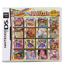 486 in 1 Game Cartridge Cooking mama New for NDS DS Lite NDSi 3DS 2DS XL US
