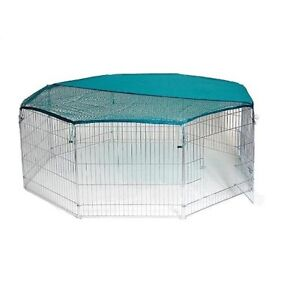 Metal Garden Animal Run Pen Enclosure Rabbit Tortoise Guinea Dog Puppy Chicken