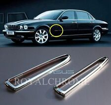 AU STOCK 2x CHROME SIDE INDICATOR TRIMS JAGUAR XJ 03-07 Daimler Vanden Plas