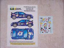 """DECALS C.B.COM. 1/43ème MEGANE Kit Car """"Jean RAGNOTTI"""" Trophée Andros 1997-1998"""
