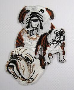 Bulldog heat seal embroidered badge
