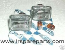 Defender,Discovery,Range Rover P38,  Clear Indicator Side Repeaters with Bulbs