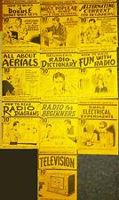 GERNSBACK'S EDUCATIONAL LIBRARY 10 vols. ORIGINAL 1938 radio books plus bonuses