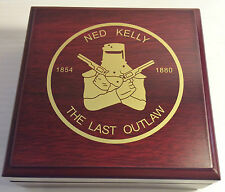 """NED KELLY"" Last Stand 1oz Coin With Display Box Finished in 999 24k Gold LTD #1"