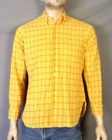 vtg 50s 60s Arrow Cum Laude King Cotton Windowpane Dress Shirt Rockabilly SZ M