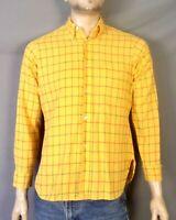 vtg 50s 60s Arrow Cum Laude King Cotton Windowpane Dress Shirt Rockabilly SZ M