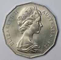 AUSTRALIA SCARCE 1972 50 CENT (50c) aUNC/UNC CONDITION HIGH GRADE (KE87.14)