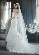 David's Bridal Floral Clip, Style C1009, SILVER ($179 retail)