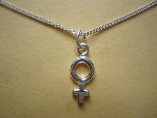 Único Venus Hembra símbolo collar de plata esterlina lesbiana orgullo Gay