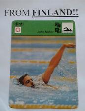 JOHN NABER 1977 FINNISH Sportscaster card SWIMMING - From Finland