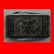 SWISS PEWTER STYLE MASONIC ARMY KNIFE MONEY CLIP,MASON,FREEMASON MASTER GIFT! EX