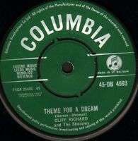 """CLIFF RICHARD AND THE SHADOWS theme for a dream 45-DB 4593 uk 1961 7"""" WS EX/"""