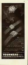 1946 TOURNEAU Watches~3 Styles in Ad/Vintage AD