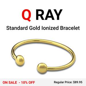 Q-Ray Standard Gold Ionized Wellness Bracelet - NEW IN BOX