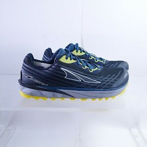 Size 11 Men's Altra Timp 2 Trail Running Shoe Al0A4PE9417 Moroccan Blue/Yellow