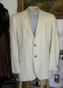 Vtg KENNY ROGERS Men's Western Blazer Gentleman RANCHERS Jacket 100% Silk NWT 44