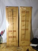 Pair Wood Indoor Outdoor louver Shutters Window Flair Fold 7x24 New (b41)