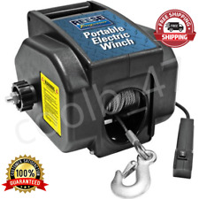 Portable Towpower 12V Electric Winch Steel Cable Safety Hook Manual/ Electric