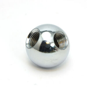 """Solid Brass Ball  Chrome Plated 1"""" Diameter 90° Angled 10mm x 1mm Pitch Thread"""
