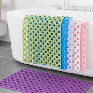 Non Slip Shower Tub Floor Bubble Mat Bathroom Safety Rubber Suction Cup Grip New