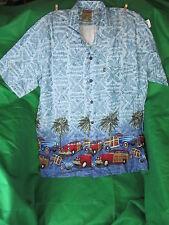 Tropical Shirt, M Pineapple Connection PALMS WOODIE CARS Red Blue Batik Korea @@