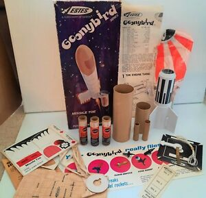 VINTAGE 1972 ESTES GOONYBIRD FLYING MODEL ROCKET KIT MISSILE TOE IN ORIG BOX
